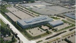Aerial shot of Michigan Motion Pictures Studios.