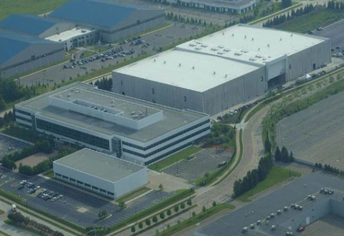 Michigan Motion Pictures Studios aerial shot.