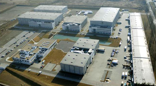 An aerial view of Origo Film Studios.