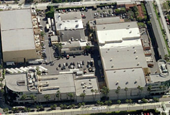 An aerial shot of Raleigh Studios