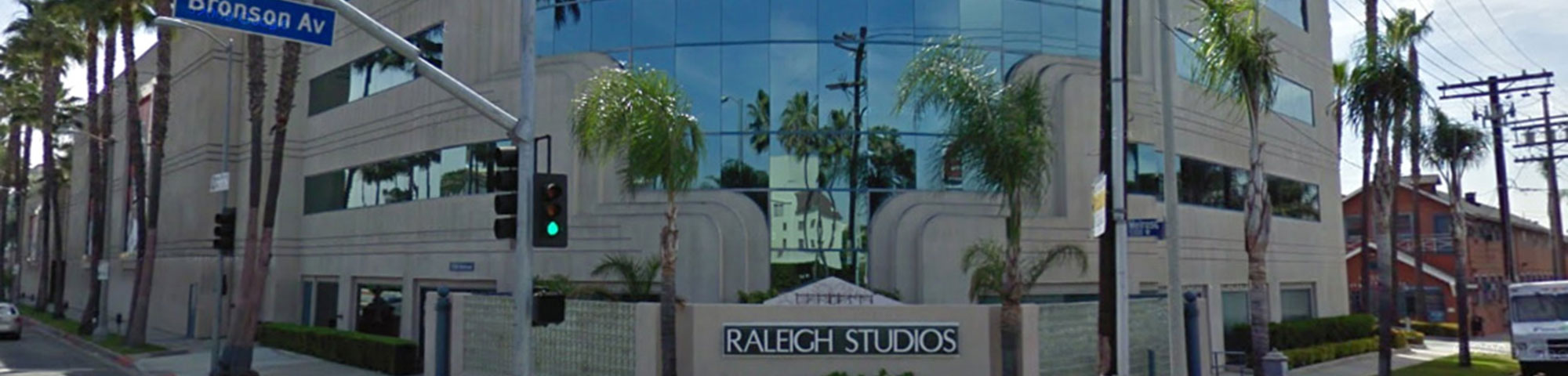 The Raleigh Studios building on Bronson Ave.