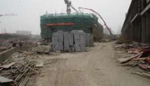Construction at Wuxi Studios.
