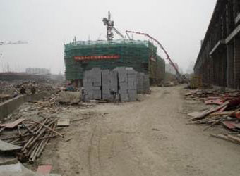 Construction at Wuxi Studios.